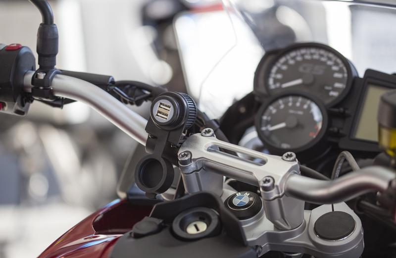 adaptador usb guidao moto