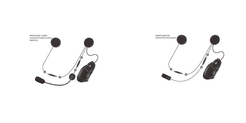intercomunicador para capacete